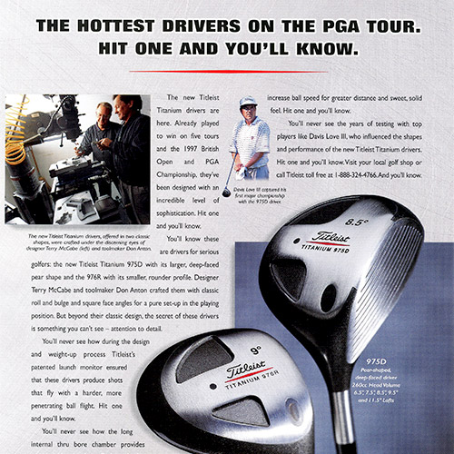 Magazine Ad for Titleist Driver
